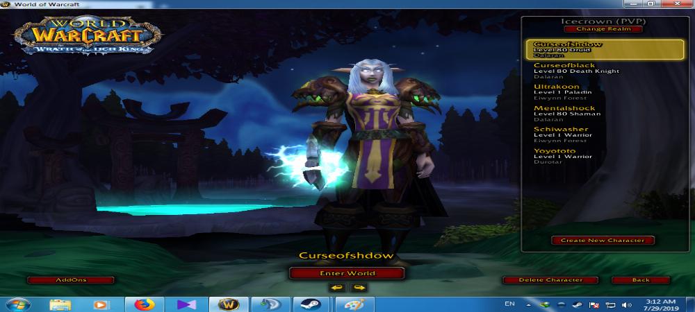 فروش هیرو deathknight - druid - shaman